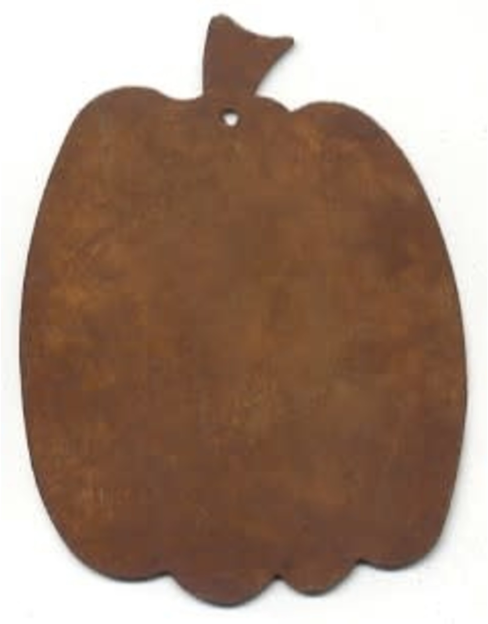 """RUSTY TIN PUMPKIN 2 1/8"""" (WITH HOLE) PACKAGED 12"""