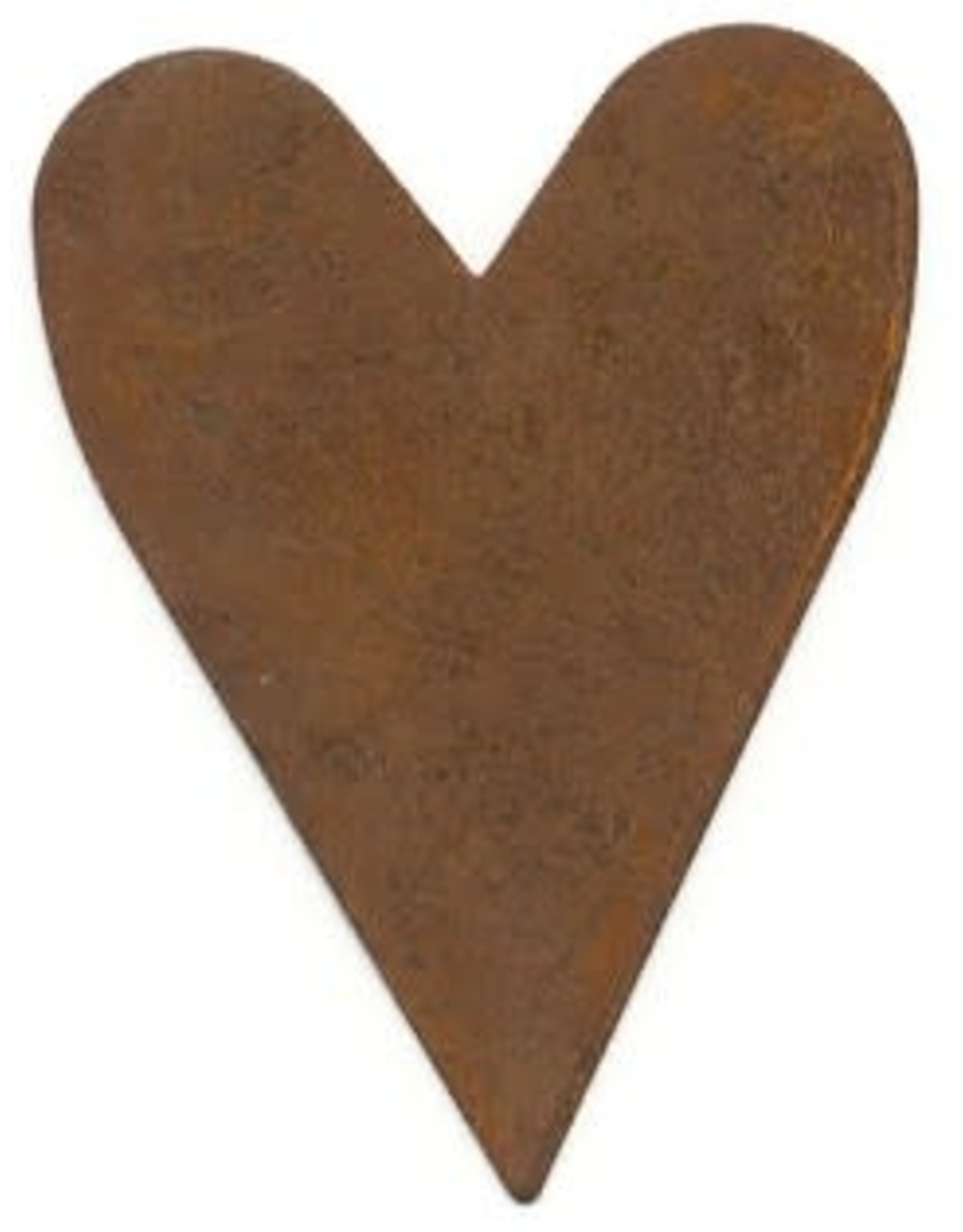 """RUSTY TIN HEART 3"""" (NO HOLE) PACKAGED 12"""