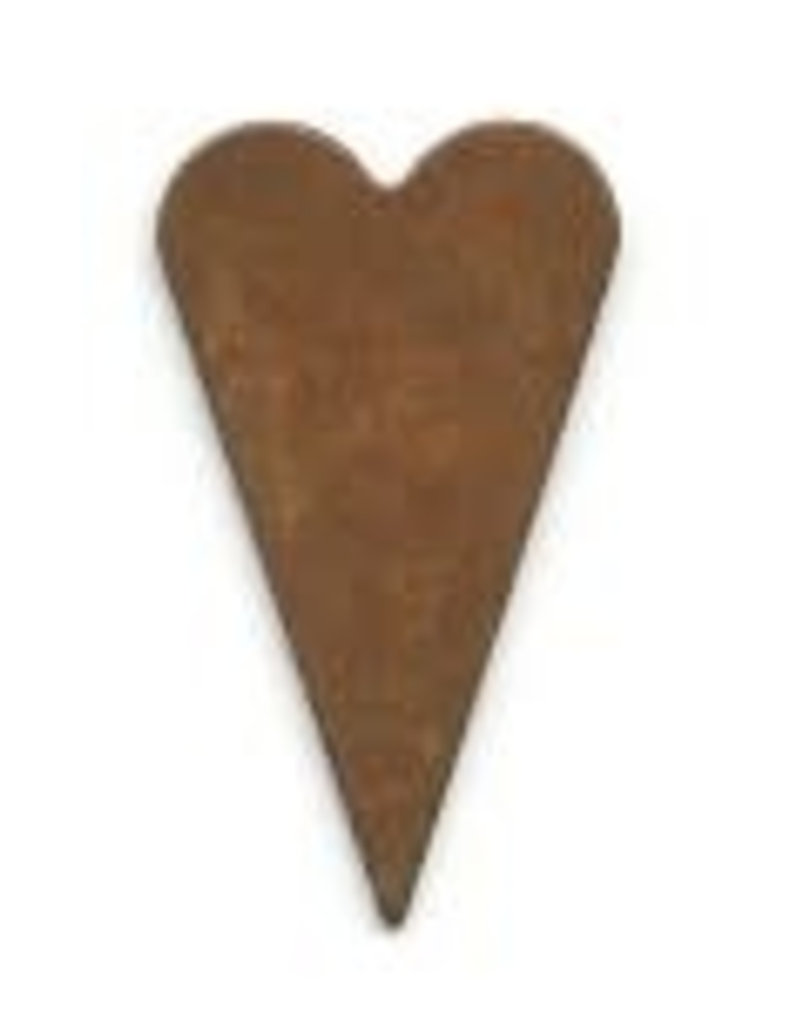 """RUSTY TIN HEART 1 1/4"""" (NO HOLE) PACKAGED 12"""