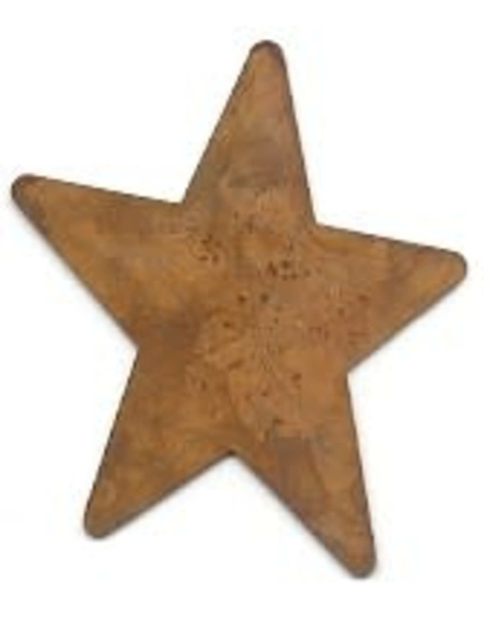 """RUSTY TIN STAR 1 1/2"""" (NO HOLE) PACKAGED 12"""
