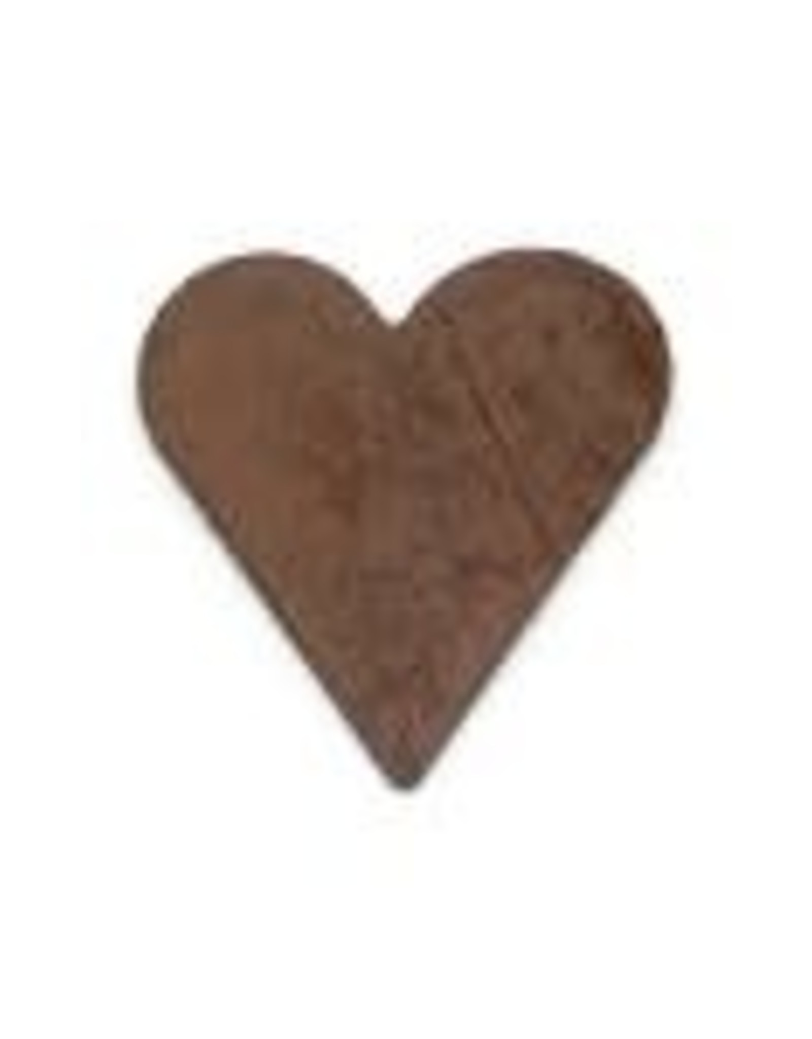 """RUSTY TIN HEART 5/8"""" (NO HOLE) PACKAGED 12"""