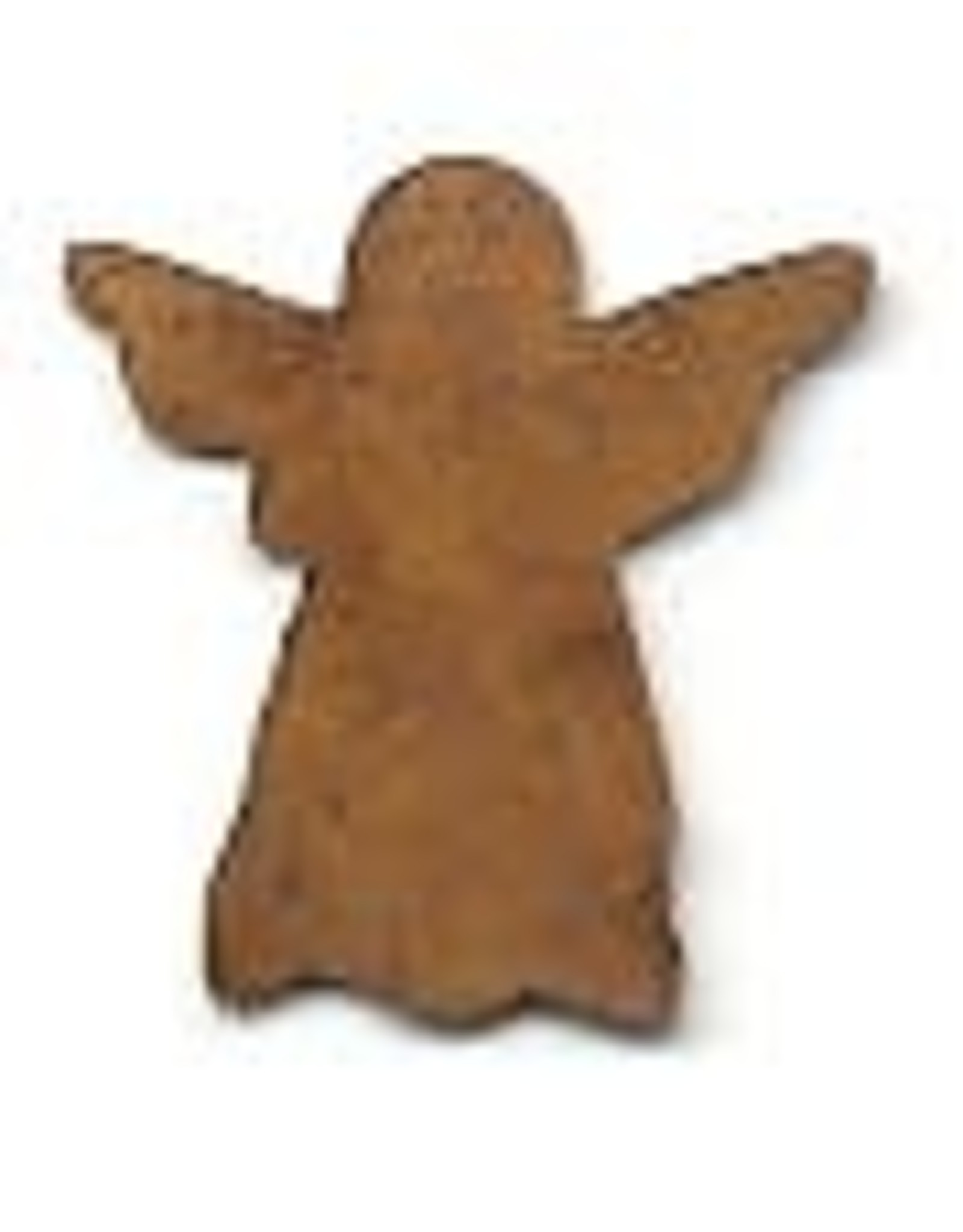 """RUSTY TIN ANGEL 7/8"""" (NO HOLE) PACKAGED 12"""