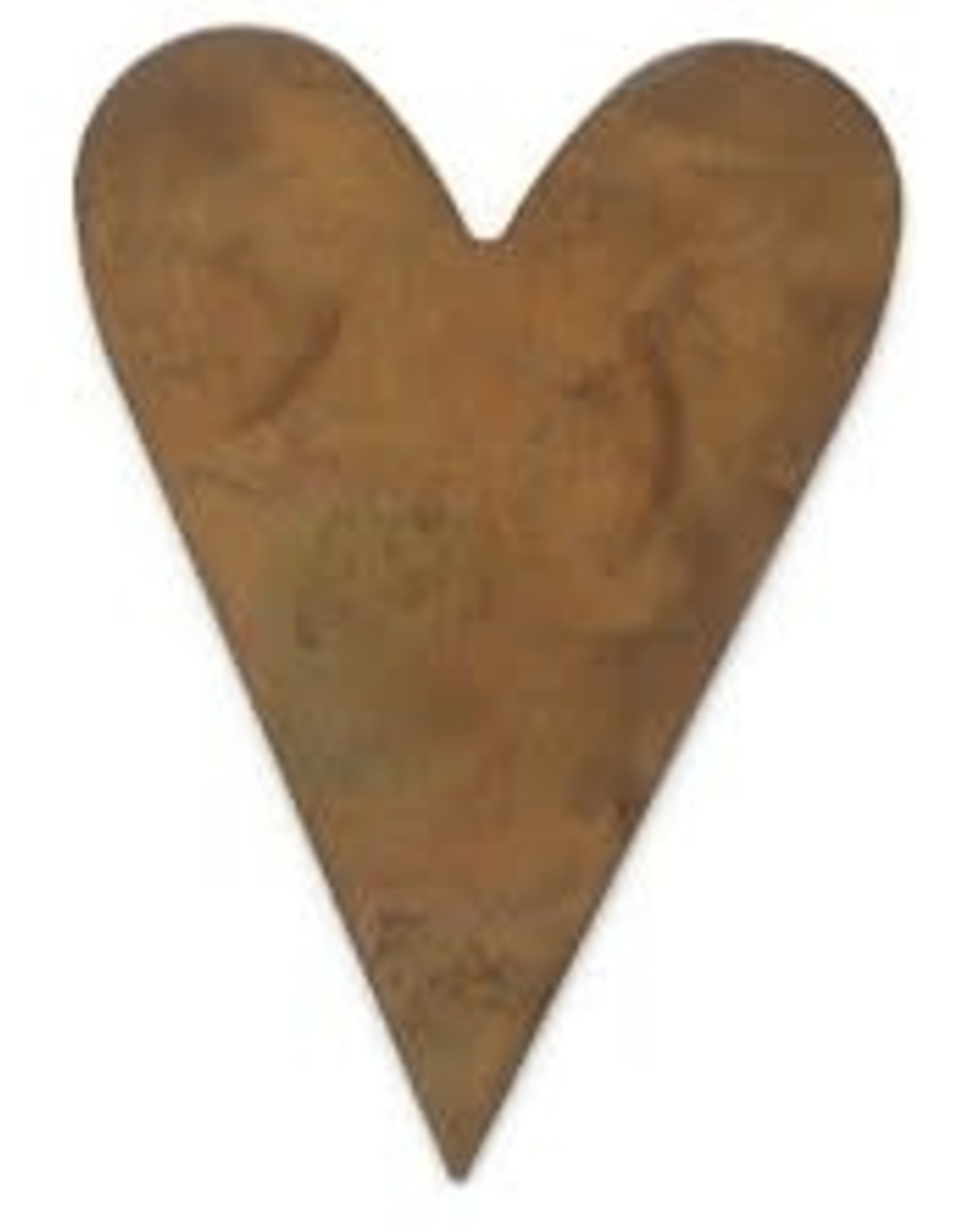 """RUSTY TIN HEART 2 1/4"""" (NO HOLE) PACKAGED 12"""