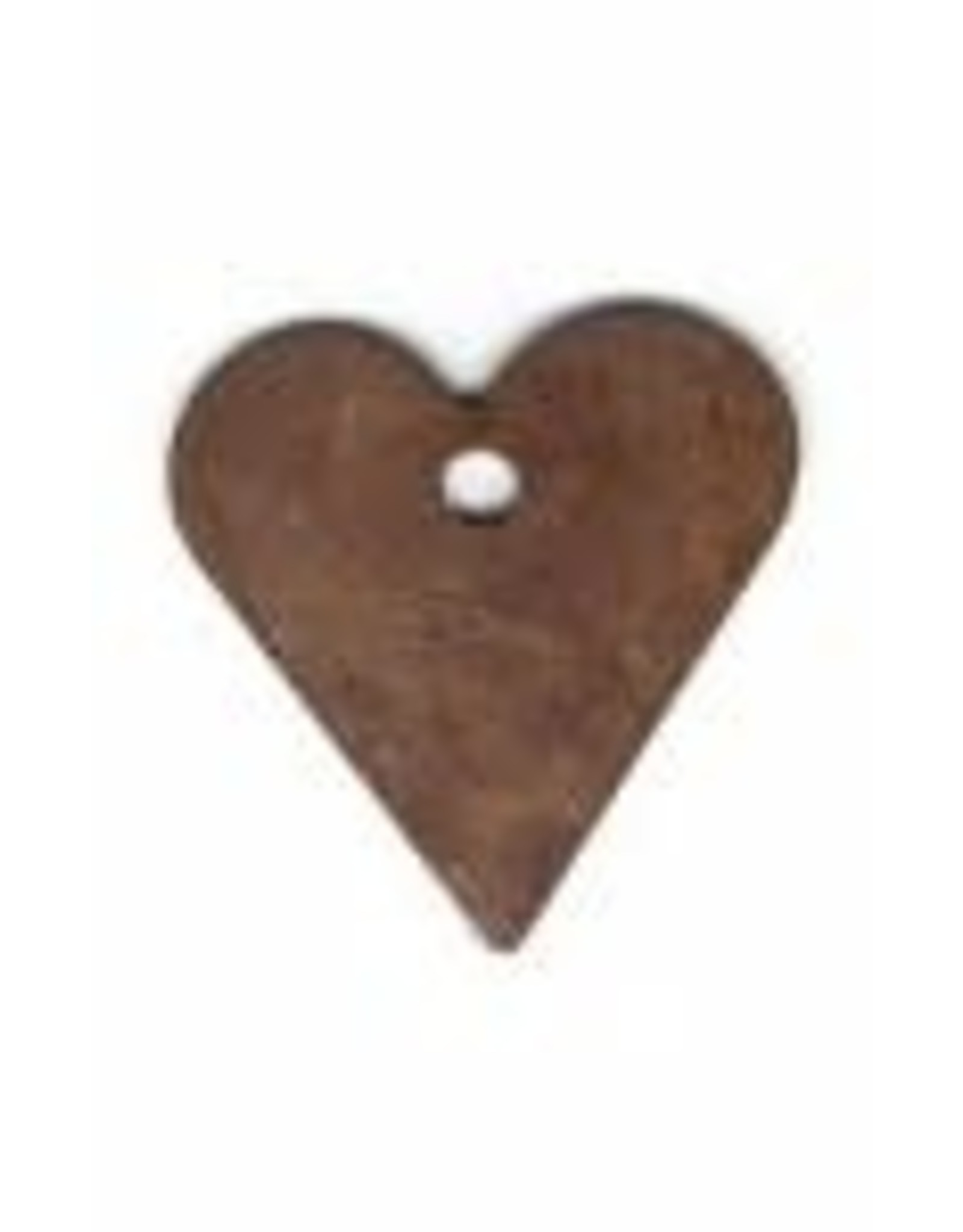 """RUSTY TIN HEART 5/8"""" (WITH HOLE) PACKAGED 12"""