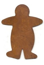 """RUSTY TIN GINGERBREAD MAN 2 1/2"""" (NO HOLE) PACKAGED 12"""