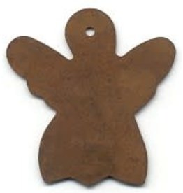 """RUSTY TIN ANGEL 7/8"""" (WITH HOLE) PACKAGED 12"""