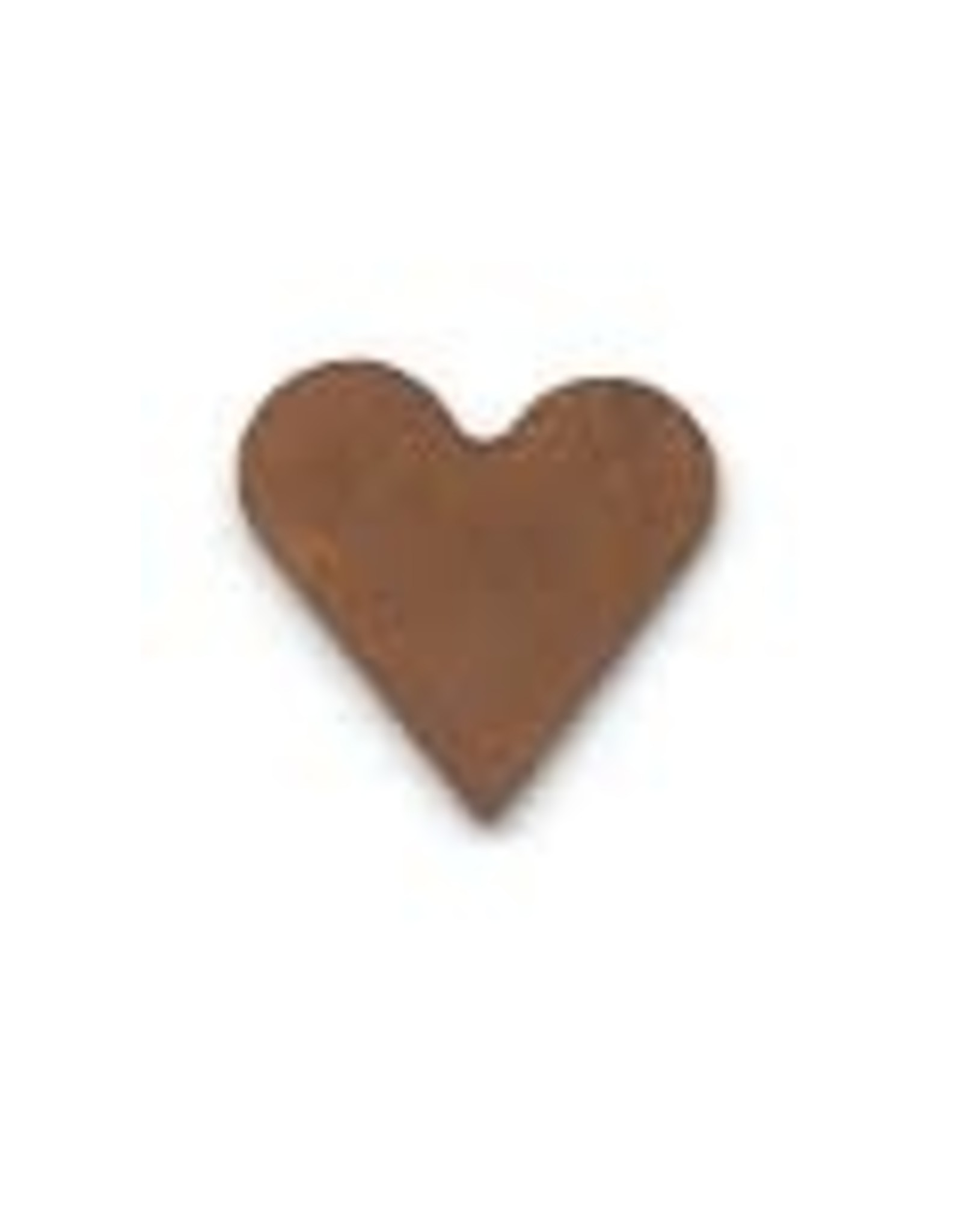 """RUSTY TIN HEART 1/2"""" (NO HOLE) PACKAGED 12"""