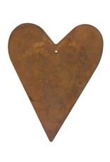 """RUSTY TIN HEART 4 1/4"""" (WITH HOLE) PACKAGED 12"""