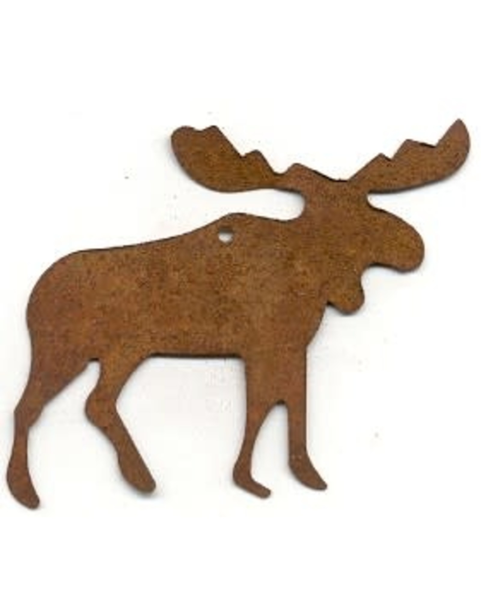 """RUSTY TIN MOOSE 3"""" (WITH HOLE) PACKAGED 12"""