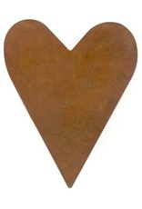 """RUSTY TIN HEART 4 1/4"""" (NO HOLE) PACKAGED 12"""