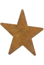 """RUSTY TIN STAR 5"""" (WITH HOLE) PACKAGED 12"""