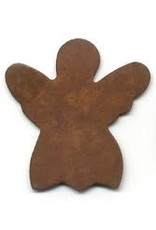"""RUSTY TIN ANGEL 1 5/8"""" (NO HOLE) PACKAGED 12"""