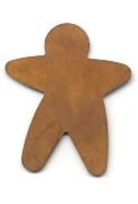 """RUSTY TIN GINGERBREAD MAN 1 3/8"""" (NO HOLE) PACKAGED 12"""