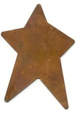 """RUSTY TIN STAR 2 1/2"""" X 3 3/4"""" (NO HOLE) PACKAGED 12"""