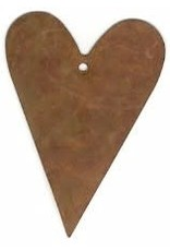 """RUSTY TIN HEART 2 1/4"""" (WITH HOLE) PACKAGED 12"""