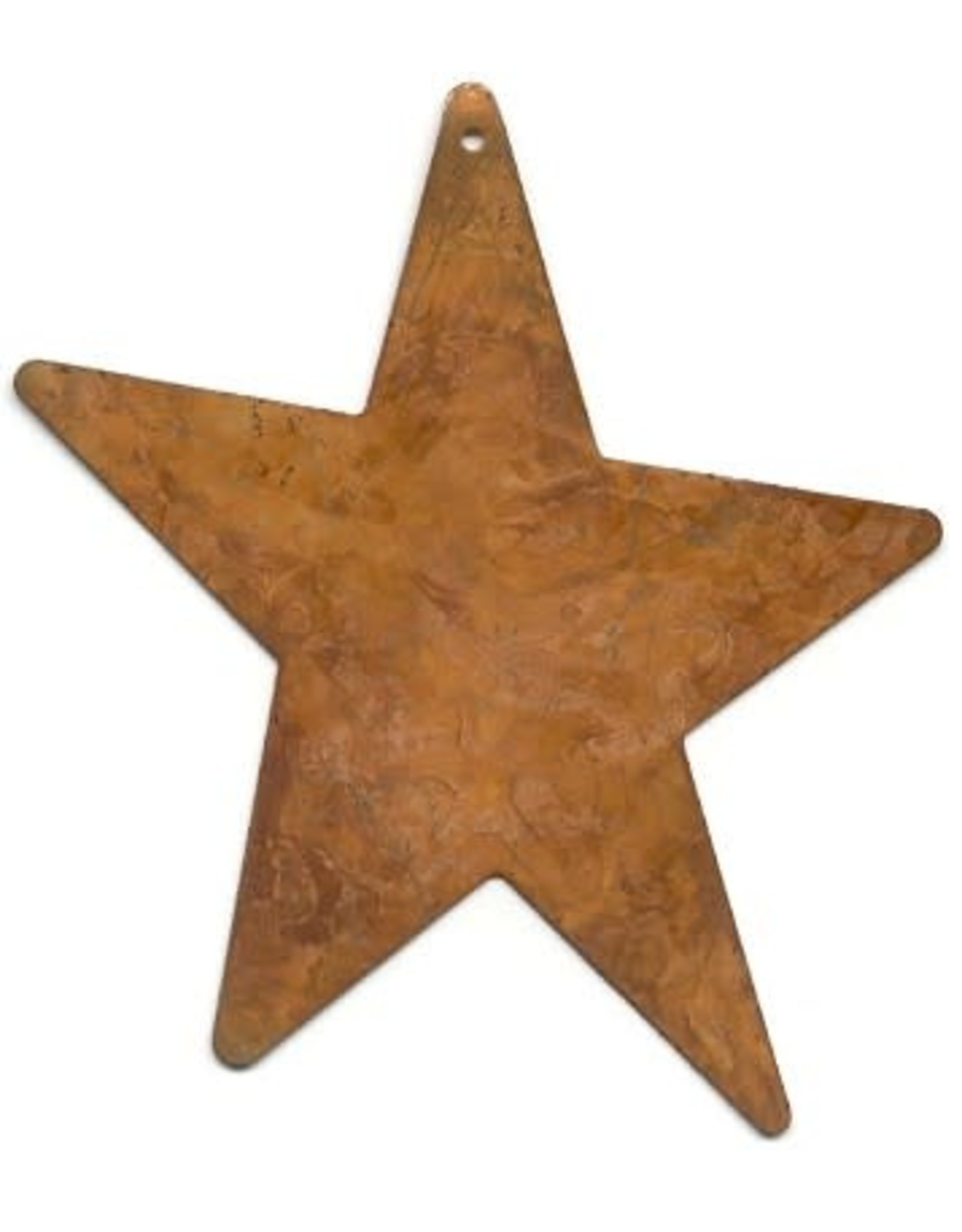 """RUSTY TIN STAR 4"""" (WITH HOLE) PACKAGED 12"""