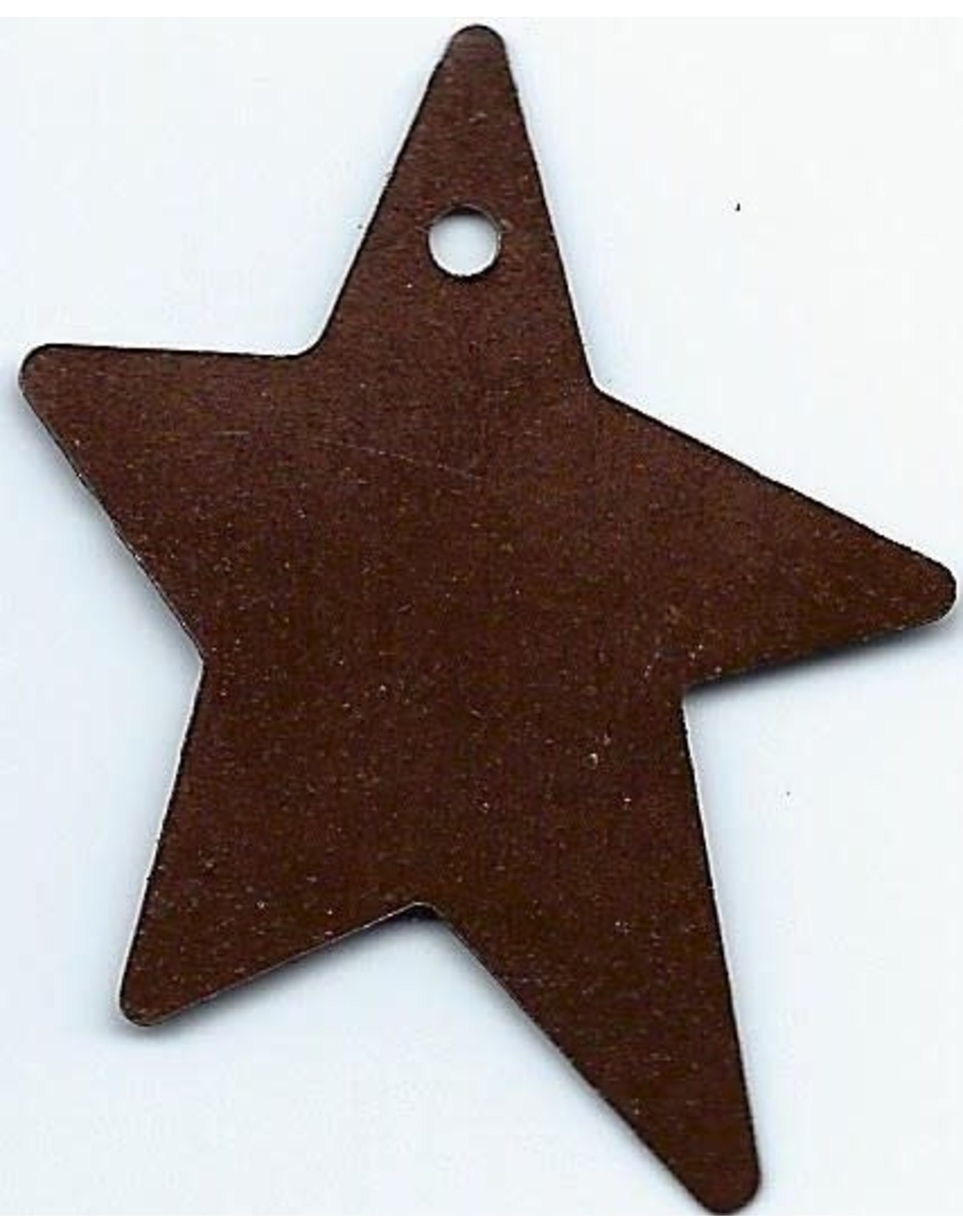 """RUSTY TIN STAR 1 1/2"""" (WITH HOLE) PACKAGED 12"""