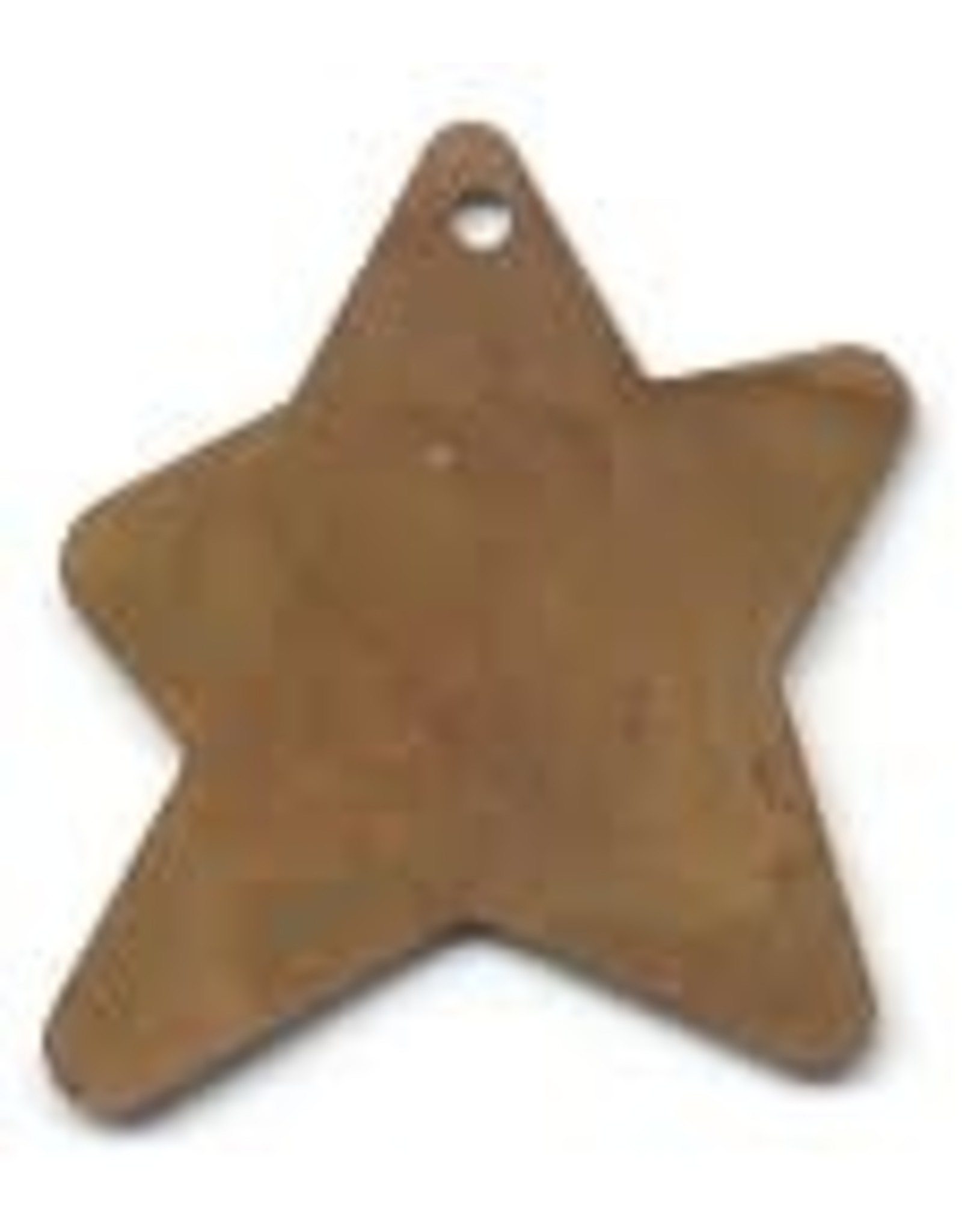 """RUSTY TIN STAR 1 1/8"""" (WITH HOLE) PACKAGED 12"""