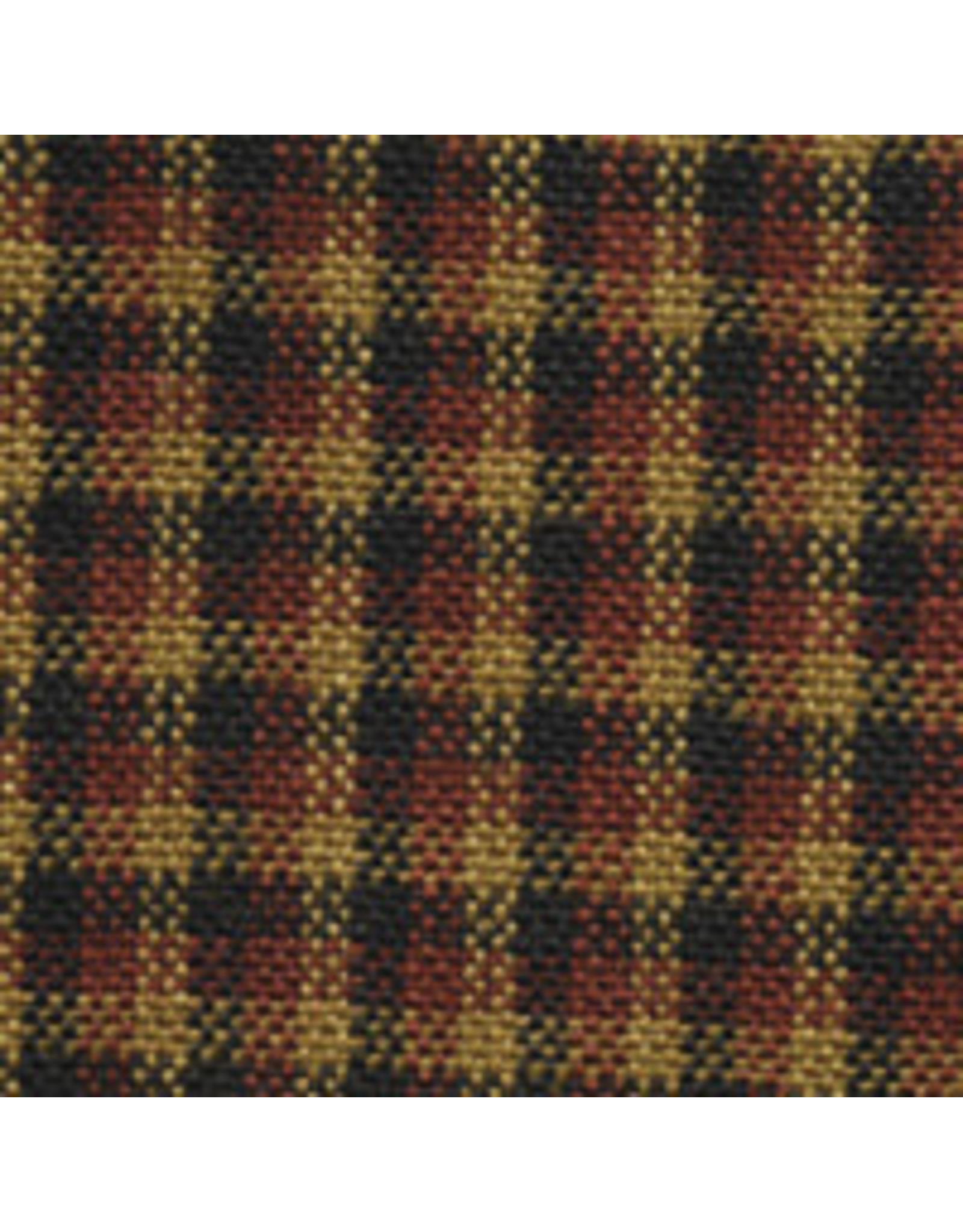Yd. PLAID RED/BLACK COLONIAL Fabric  #3312
