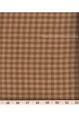 Yd. MUSTARD/DIJON SMALL CHECK FABRIC #106D