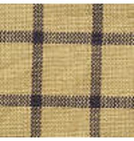 Yd Navy and Tan Window Pane Fabric #20