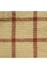Yd. Red and Tan Window Pane Fabric #30
