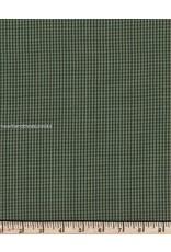 Yd. Green and Tan Mini Check Fabric #43