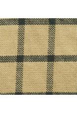 Yd. Green and Tan Window Pane Fabric #40