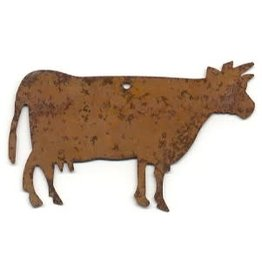 """RUSTY TIN COW 2 1/2"""" (NO HOLE) PACKAGED 12"""