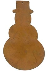 """RUSTY TIN SNOWMAN 5 3/4"""" (WITH HOLE) PACKAGED 12"""
