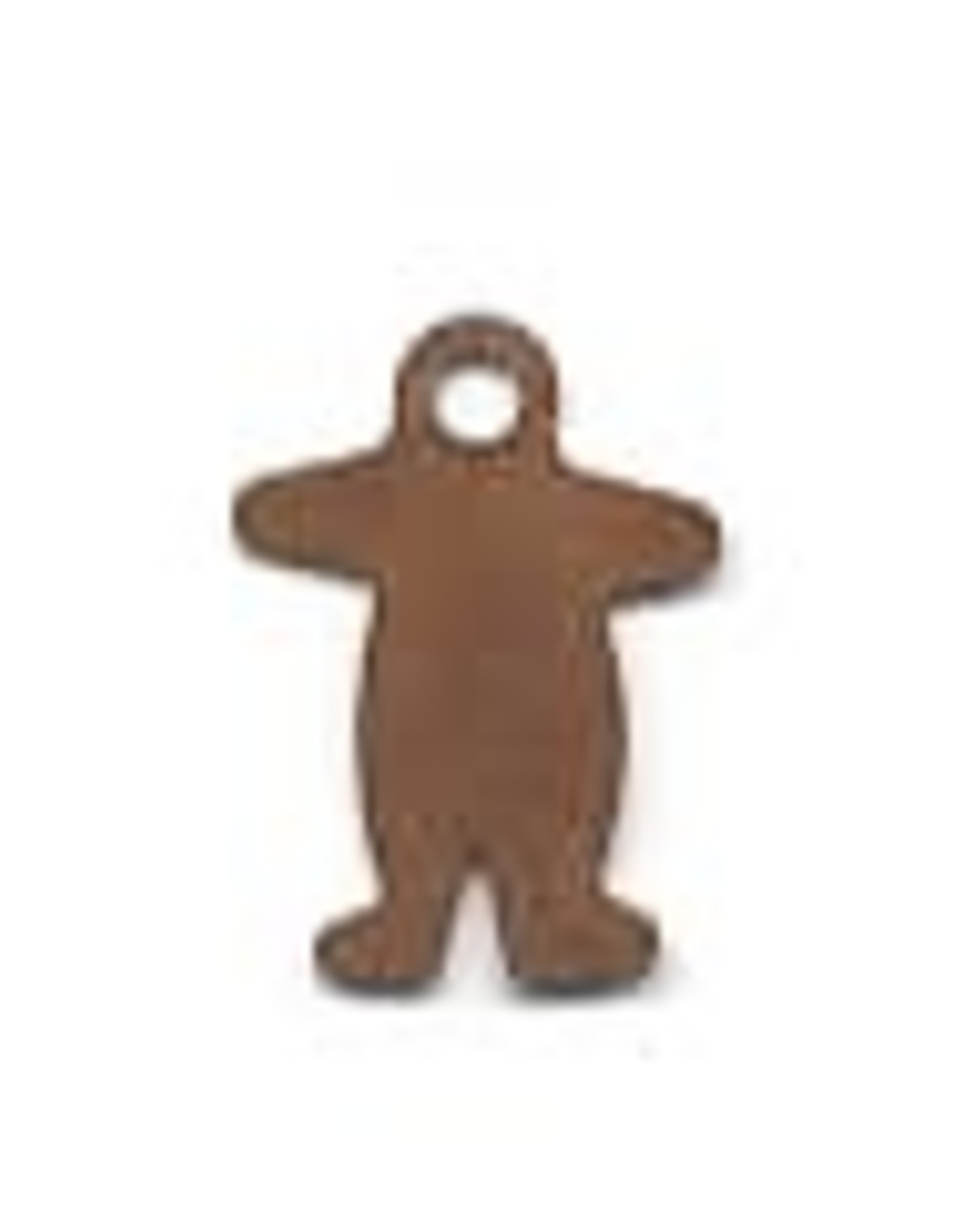 """RUSTY TIN GINGERBREAD MAN 3/4"""" (WITH HOLE) PACKAGED 12"""