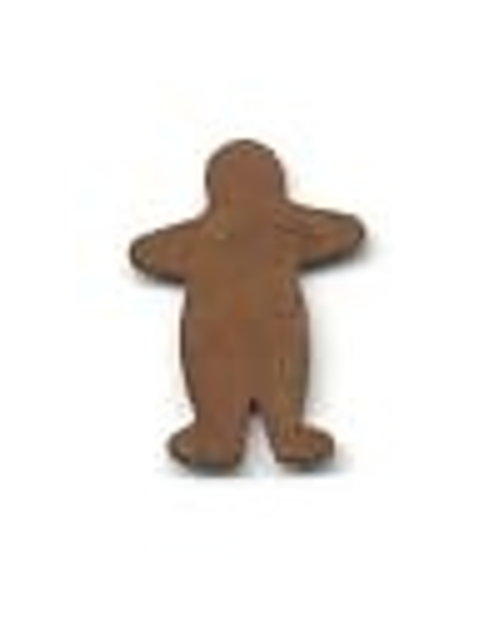 """RUSTY TIN GINGERBREAD MAN 3/4"""" (NO HOLE) PACKAGED 12"""