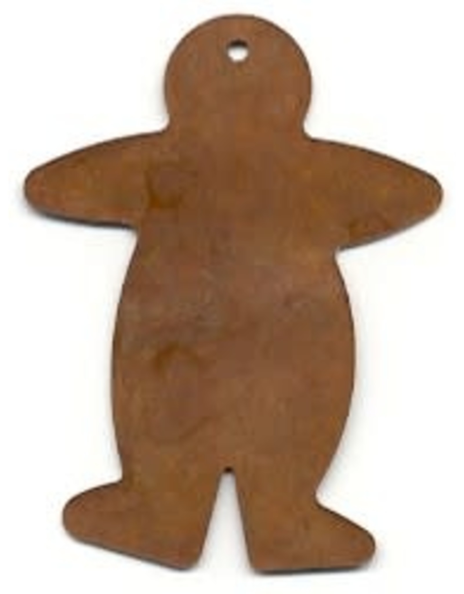 """RUSTY TIN GINGERBREAD MAN 2 1/2"""" (WITH HOLE) PACKAGED 12"""