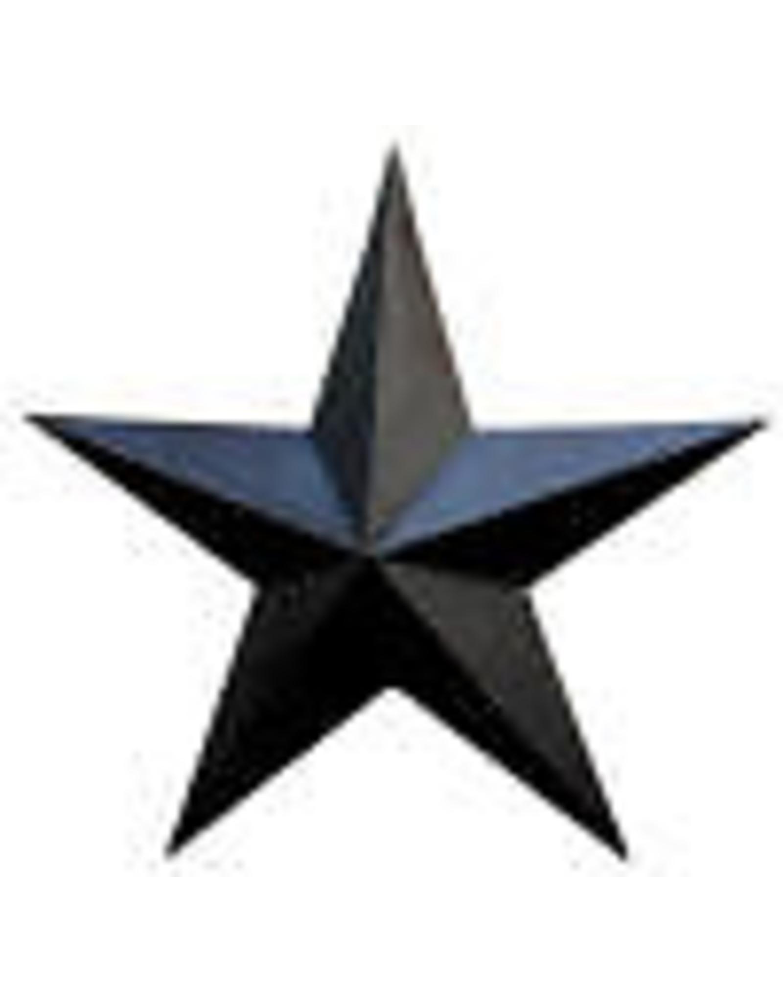 "BLACK RUSTY BARN STAR 3.5"""