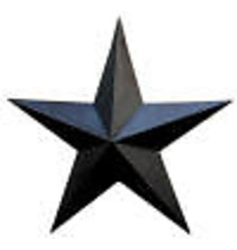 "BLACK  RUSTY BARN STAR 18"""