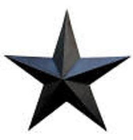 "BLACK RUSTY BARN STAR 24"""