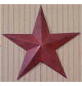"BURGUNDY RUSTY BARN STAR 12"""
