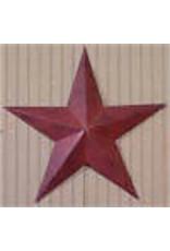 "BURGUNDY RUSTY BARN STAR 18"""