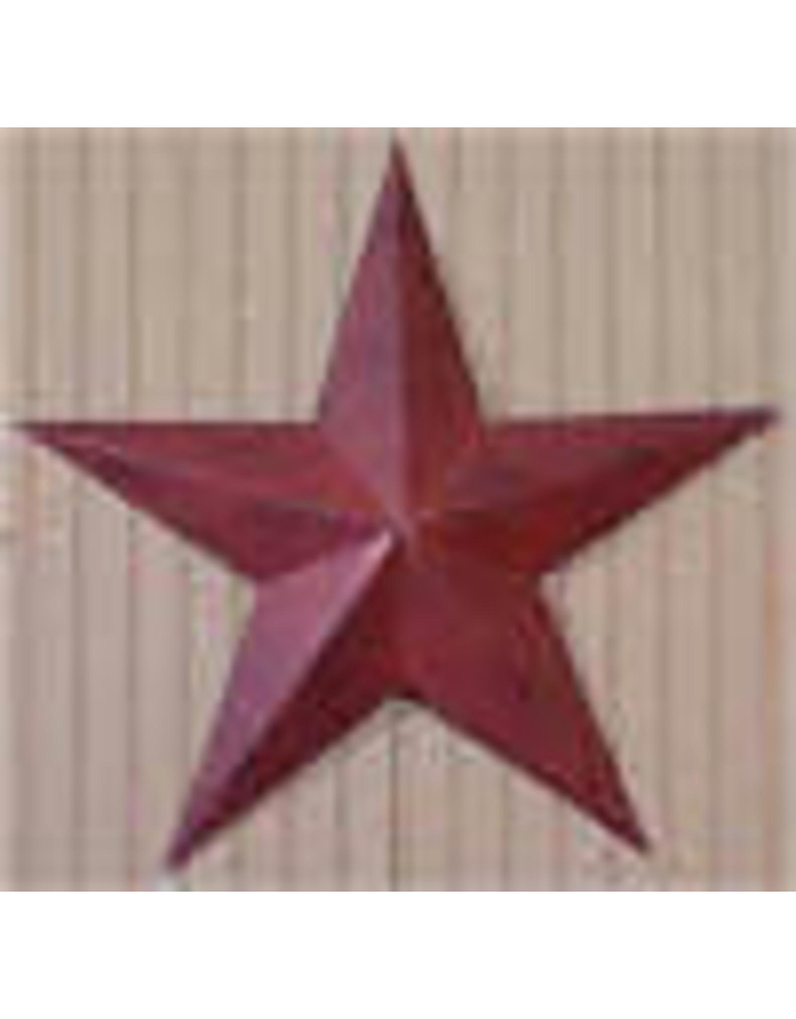 "BURGUNDY RUSTY BARN STAR 24"""