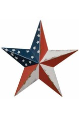 "AMERICANA RUSTY BARN STAR 18"""