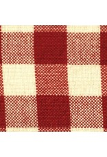 Yd. Red and White Small Check Fabric #704-r