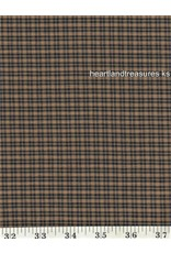 Yd. Navy and Tan Plaid Fabric #253