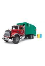 BRUDER Toys Mack Granite Garbage Truck Ruby Red / Green 02812