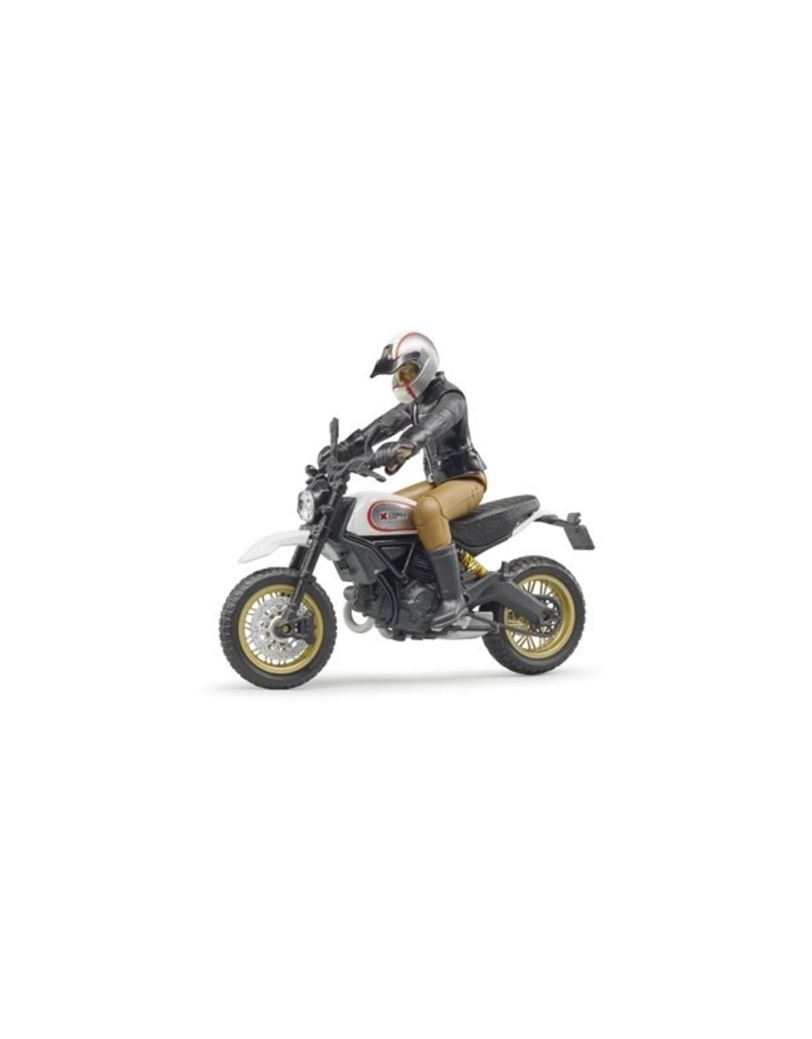 BRUDER Scrambler Ducati Desert Sled w driver