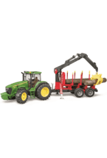 John Deere 7930 w logging trailer, crane and 3 logs