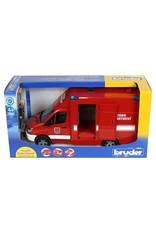 Bruder 02539 MB Sprinter Paramedic with Fireman, Integrated Light & Sound Module
