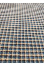 Yd. Teal, Tan, Black Tricolor Fabric #3412