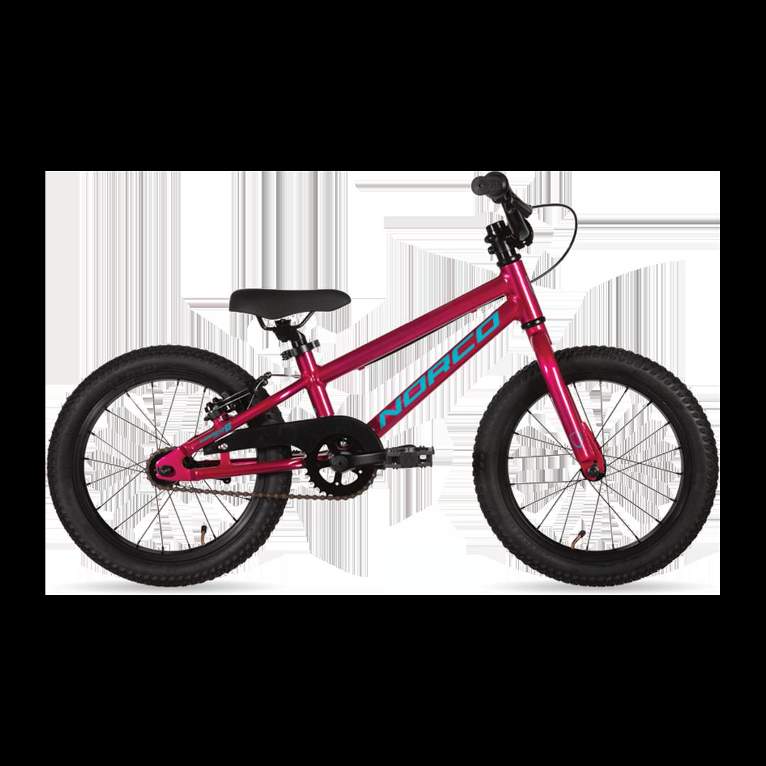"""Vélo Norco Coaster 16 Rose/Bleu 16""""-1"""