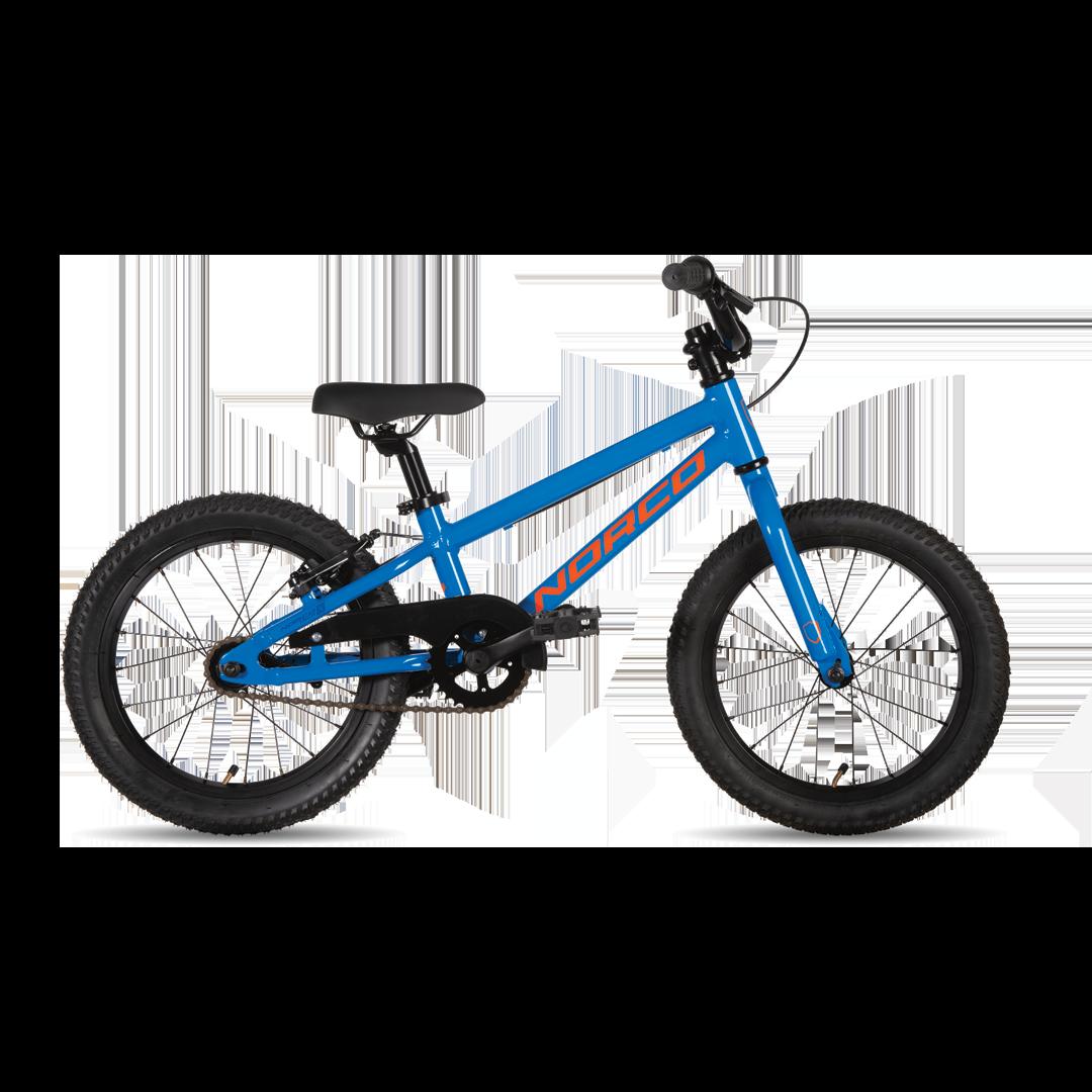 """Vélo Norco Coaster 16 Bleu/Orange 16""""-1"""