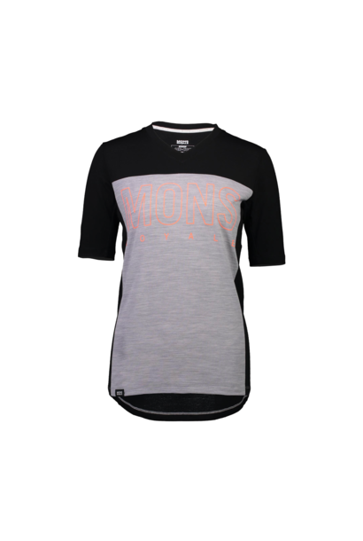 Jersey Mons Royale Womens Phoenix Enduro VT Black/Grey Marl